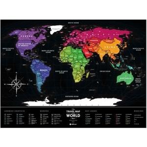 Карта 1DEA.me Travel map black world