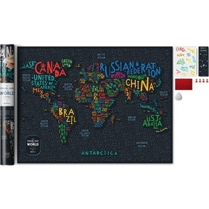 Карта 1DEA.me Travel map letters world