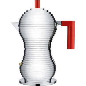 Гейзерная кофеварка 150 мл Alessi Pulcina красная