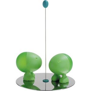 Солонка и перечница Alessi Lilliput зеленые