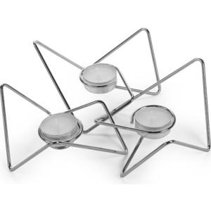 Набор из 3-х подсвечников Black+Blum Tri - angular loop хром