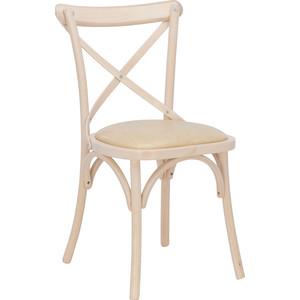 Стул Leset Грид мягкий беленый дуб к/з ваниль стул каркас хром к з черный z11 482821 шатура стулья и табуреты