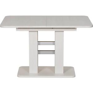 Стол раздвижной Leset Гранд бетон/белый
