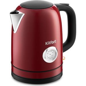 Чайник электрический KITFORT KT-683-2 красный аэрогриль kitfort kt 1621 2 красный чёрный
