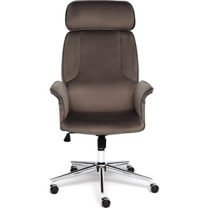 Кресло TetChair Charm велюр коричневый/серый T17/T18