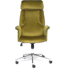 Кресло TetChair Charm велюр зеленый/серый T09/T18