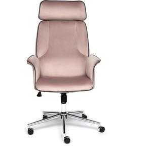 Кресло TetChair Charm велюр розовый/серый T14/T18
