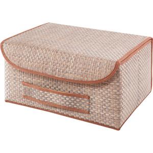 Коробка для хранения с крышкой Casy Home Bo-022 коричневая