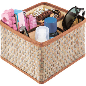 Органайзер для косметики и бижутерии Casy Home 4 ячейки коричневый or-012