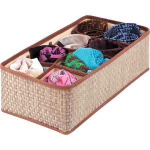 цены Органайзер для шейных платков и галстуков Casy Home 8 ячеек коричневый or-022