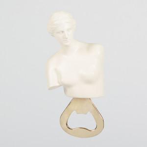 Открыватель для бутылок металлический Doiy Hestia белый