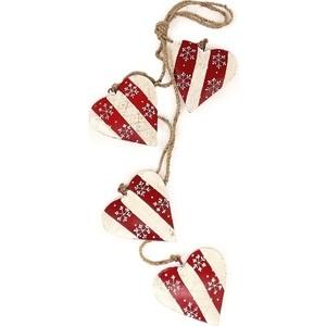Гирлянда подвесная EnjoyMe Christmas hearts, 4 шт.