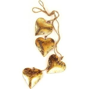 Гирлянда подвесная EnjoyMe Golden hearts, 4 шт.