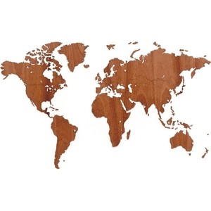 Карта-пазл Mimi wall decoration exclusive, 130х78 см, африканское сапеле