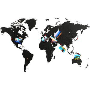 Пазл Mimi Карта мира черная 100х60 см new