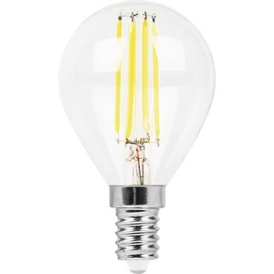 Лампа светодиодная филаментная Feron LB-511 38013 E14 11W 2700K Шар Прозрачная