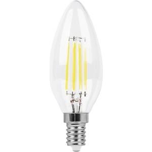 Лампа светодиодная филаментная Feron LB-713 38008 E14 11W 4000K Свеча Прозрачная