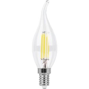 купить Лампа светодиодная филаментная Feron LB-714 38012 E14 11W 4000K Свеча на ветру Прозрачная дешево