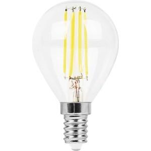 Лампа светодиодная филаментная Feron LB-511 38014 E14 11W 4000K Шар Прозрачная