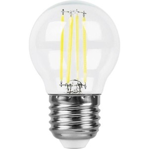 Лампа светодиодная филаментная Feron LB-511 38015 E27 11W 2700K Шар Прозрачная