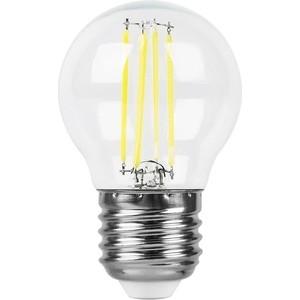 лучшая цена Лампа светодиодная филаментная Feron LB-511 38016 E27 11W 4000K Шар Прозрачная