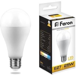 Лампа светодиодная Feron LB-100 25790 E27 25W 2700K Шар Матовая лампа светодиодная feron lb 100 25791 e27 25w 4000k шар матовая