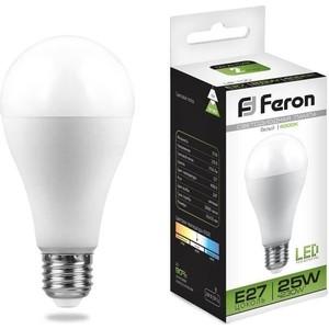 Лампа светодиодная Feron LB-100 25791 E27 25W 4000K Шар Матовая лампа светодиодная feron lb 100 25791 e27 25w 4000k шар матовая