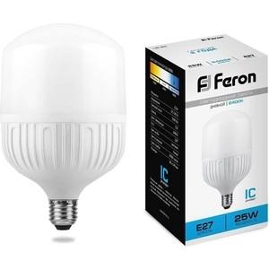 Лампа светодиодная Feron LB-65 25887 E27 25W 6400K Цилиндр Матовая
