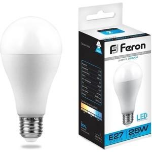 Лампа светодиодная Feron LB-100 25792 E27 25W 6400K Шар Матовая лампа светодиодная feron lb 100 25791 e27 25w 4000k шар матовая