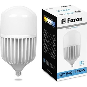 Лампа светодиодная Feron LB-65 25827 E27-E40 100W 6400K Цилиндр Матовая
