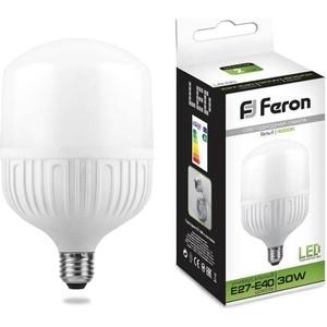 лампочка feron lb 65 e27 30w 4000k 230v 25818 Лампа светодиодная Feron LB-65 25818 E27-E40 30W 4000K Цилиндр Матовая