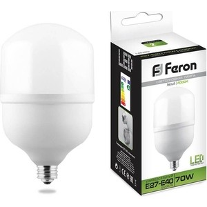 Лампа светодиодная Feron LB-65 25822 E27-E40 70W 4000K Цилиндр Матовая
