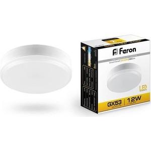 Лампа светодиодная Feron LB-453 25833 GX53 12W 2700K Таблетка Матовая