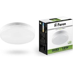 Лампа светодиодная Feron LB-453 25835 GX53 12W 4000K Таблетка Матовая