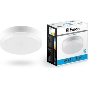 Лампа светодиодная Feron LB-45325868 GX53 12W 6400K Таблетка Матовая
