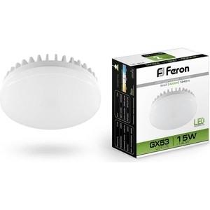 Лампа светодиодная Feron LB-454 25836 GX53 15W 4000K Таблетка Матовая