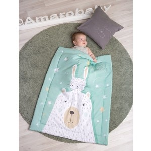 Плед AmaroBaby Exclusive Creative Collection 95х85 HELLO FRIENDS