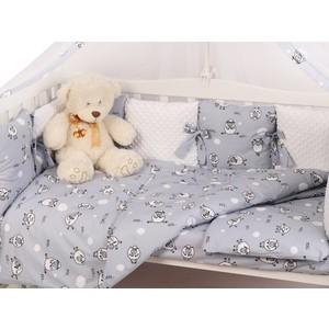 Комплект в кроватку AmaroBaby 15 предметов Exclusive Soft Collection 101 Барашек