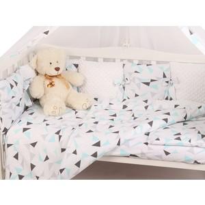Комплект в кроватку AmaroBaby 15 предметов Exclusive Soft Collection Треугольники