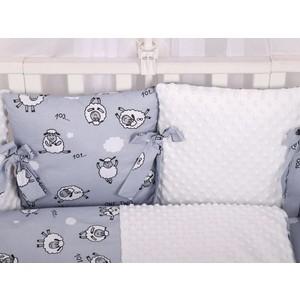 Бортик в кроватку AmaroBaby 12 предметов Exclusive Soft Collection 101 Барашек
