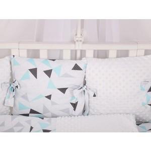Бортик в кроватку AmaroBaby 12 предметов Exclusive Soft Collection Треугольники