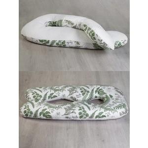 Подушка для беременных AmaroBaby Анатомическа Exclusive Soft Collection 340х72 (Папоротники)