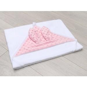 Полотенце детское с уголком AmaroBaby Honey Bunny розовый