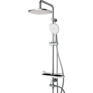 Душевая система Dorff Prime с верхним душем, хром/белый (D0740000) фото