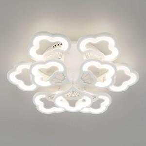 Потолочная светодиодная люстра Eurosvet Arctic 90141/9 белый