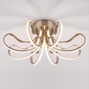Потолочный светодиодный светильник Eurosvet Lilium 90079/8 сатин-никель торшер eurosvet liona 01050 1 сатин никель