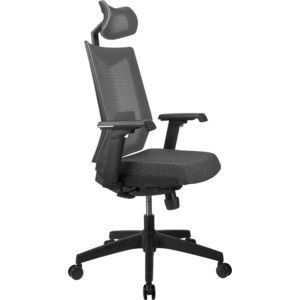 Кресло Riva Chair RCH T27H серая ткань (STI-01) сетка BTC-06
