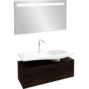 Мебель для ванной Jacob Delafon Stillness 120 натуральный темный дуб, раковина по центру фото