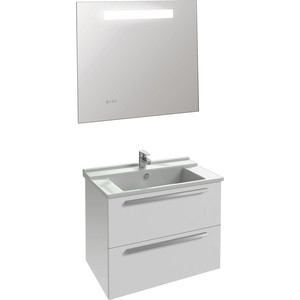 Мебель для ванной Jacob Delafon Struktura 80 белый, 2 ящика