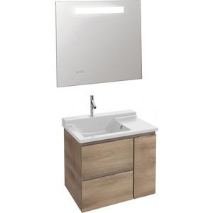 Мебель для ванной Jacob Delafon Soprano 80 квебекский дуб, 2 ящика, 1 дверца